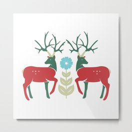 Spring Elk Metal Print