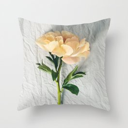 Beautiful peony flower  Throw Pillow