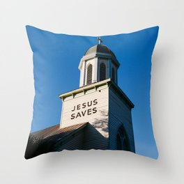 Jesus Saves Charleston II Throw Pillow