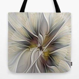 Floral Abstract, Fractal Art Tote Bag
