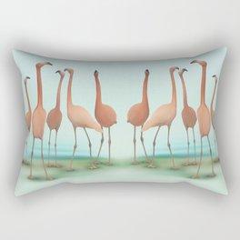 Flamingo Mingle Rectangular Pillow