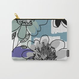 flowerpatch blue Carry-All Pouch