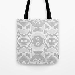 Geometric Aztec in Soft Grey Tote Bag