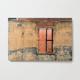 Ruin with Pink Window Metal Print
