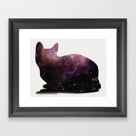 Willow the Galaxy Cat! Framed Art Print