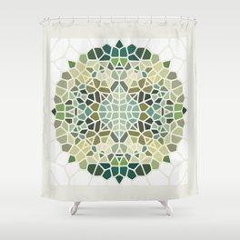Herbal Tea - Voronoi Shower Curtain