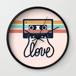 Vintage Love Songs Wall Clock