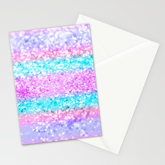 Unicorn Girls Glitter #15 #shiny #decor #art #society6 Stationery Cards