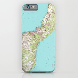 Vintage Topographical Map of Guam iPhone Case