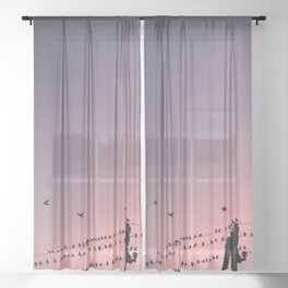 Time to fly Sheer Curtain