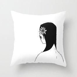Cactus girl Throw Pillow