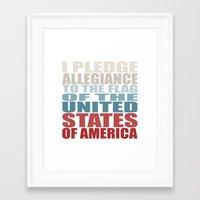 america Framed Art Prints featuring America by Jason Michael