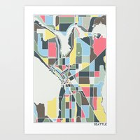 seattle Art Prints featuring Seattle. by Studio Tesouro