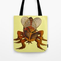 bee Tote Bags featuring bee by giol's