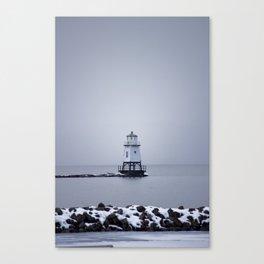 Burlington Breakwater North Lighthouse Canvas Print