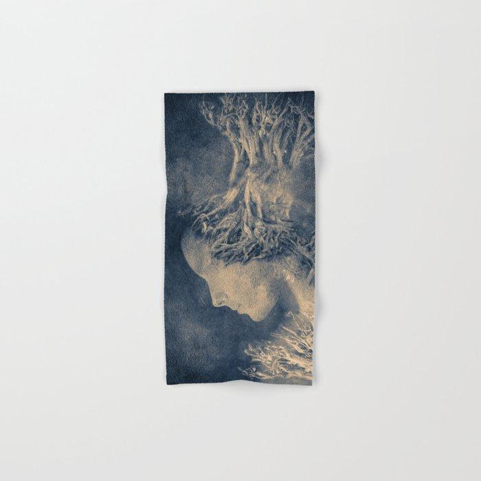 Dark portrait II  (colour option) Hand & Bath Towel