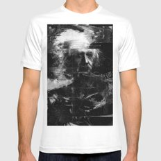 Albert Einstein MEDIUM White Mens Fitted Tee