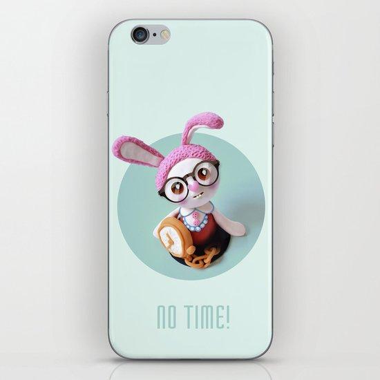 No time! iPhone & iPod Skin