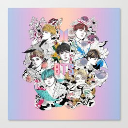 BTS Members -Love Yourself Canvas Print