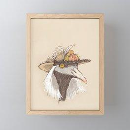 Bird in Hat-1 Framed Mini Art Print