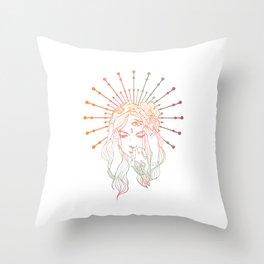 Dissociative Goddess Throw Pillow