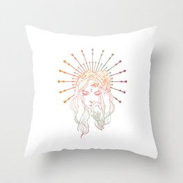 Dissociative Goddess Throw Pillow
