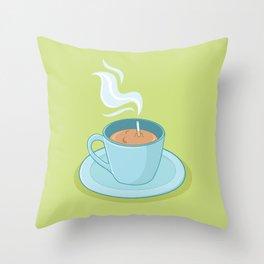 Hot Coffee, Not! Throw Pillow