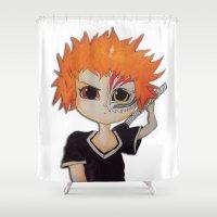 bleach Shower Curtains featuring Baby ichigo Fan Art -Bleach by gunesimben