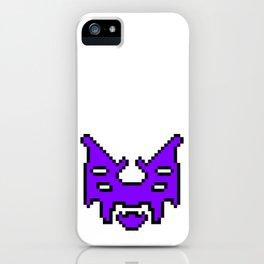 Pixel invader : Purple iPhone Case