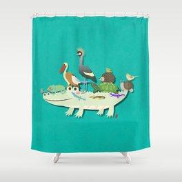 Crocodile Shower Curtain