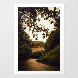 Farm house in Norwich, United States Art Print