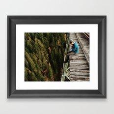 Bridge Sitting Framed Art Print