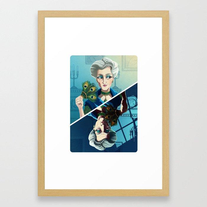 Ms Peacock Framed Art Print