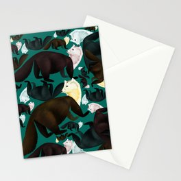 Marten tropical pattern Stationery Cards