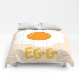 Egg orange Comforters