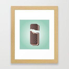 I is for Ice Cream. Framed Art Print