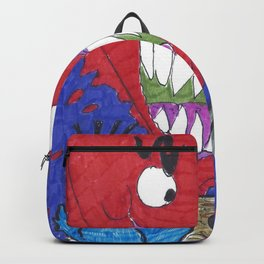 The Valentine Monster Meets The Love Birds Backpack