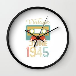 Vintage June 1945 75th Birthday 75 Year Gift Wall Clock