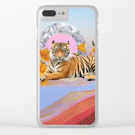 Twilight Tiger Clear iPhone Case