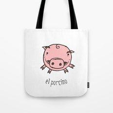 el porcino Tote Bag