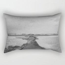 Storm in the beach Rectangular Pillow