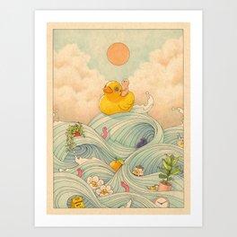 Duck at Sea Art Print