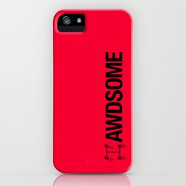 AWDSOME v4 HQvector iPhone Case