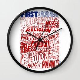 The First Amendment Wall Clock