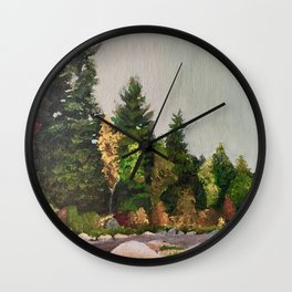 Upstate New York Gorges Wall Clock