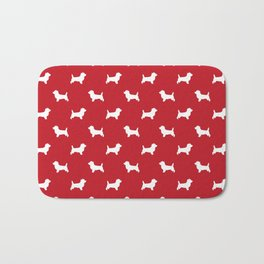 Cairn Terrier dog breed red and white dog pattern pet dog lover minimal Bath Mat