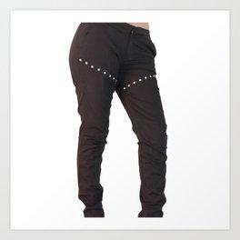 Lowest Black Jeans Art Print