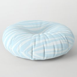 Zebra Print - Wavy Blue Floor Pillow