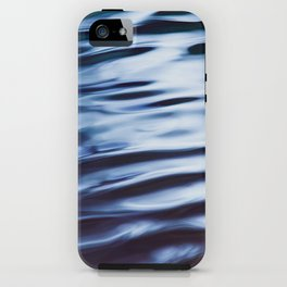 Silver and Black Ripples iPhone Case