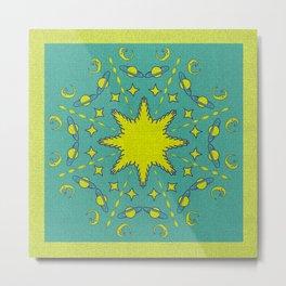 Mandala Universe Calling You  Metal Print